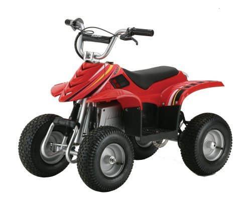 Razor Dirt Quad Electric Four Wheeled Off Road Vehicle Red - Razor Dirt Quad Electric Four-Wheeled Off-Road Vehicle (Red)
